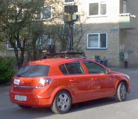 street_view_red_car_denmark